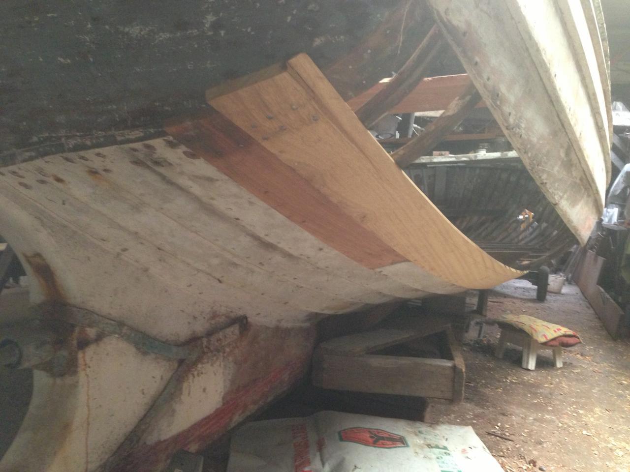 restauration du canot à clin Simmy III