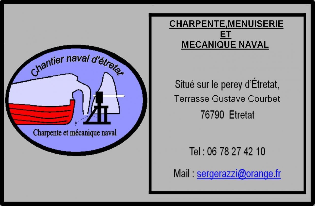 carte de visite du chantier naval d'etretat